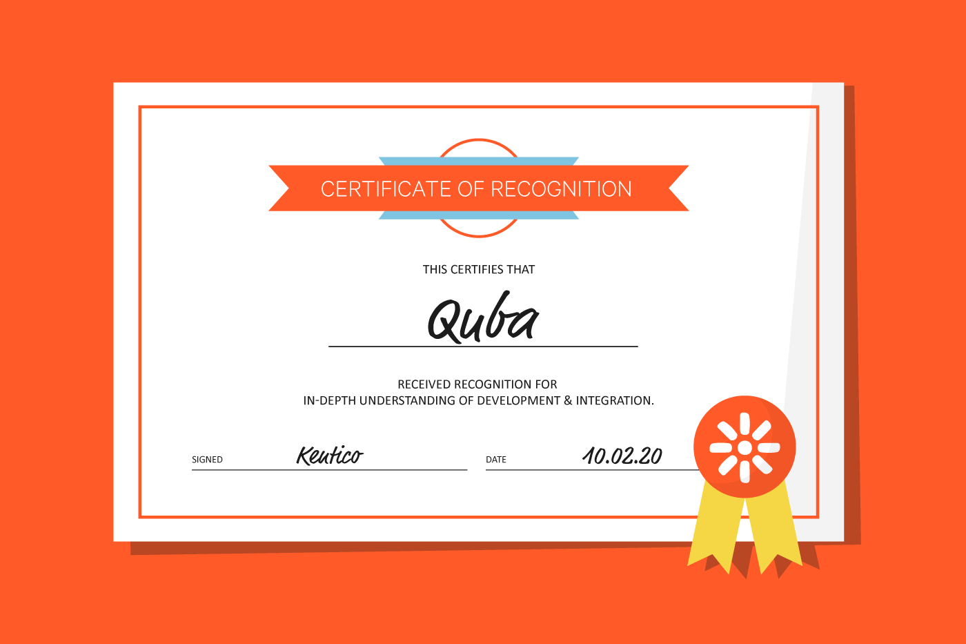 Quba gains two competency awards from Kentico