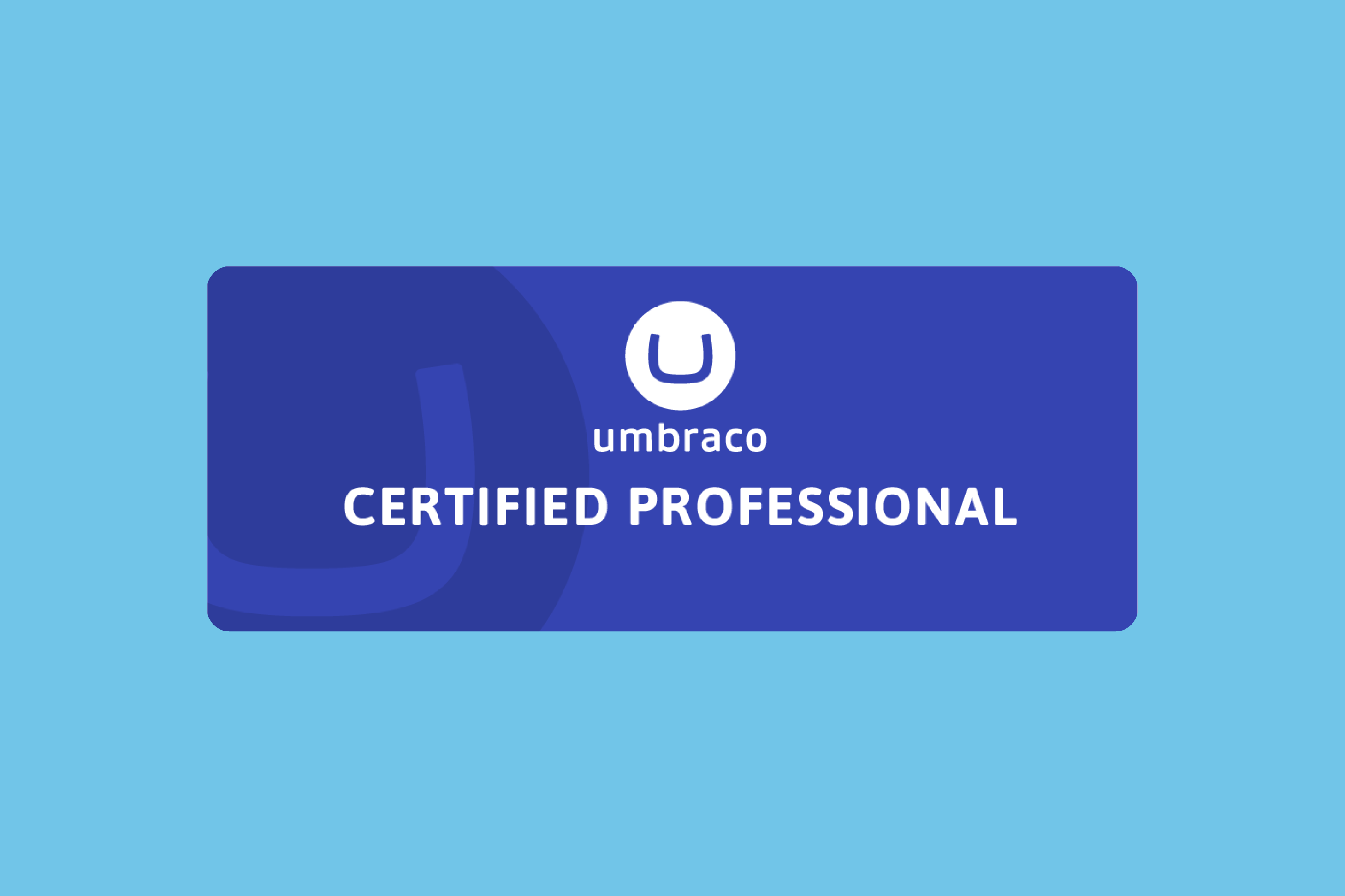 Jake becomes an Umbraco certified professional