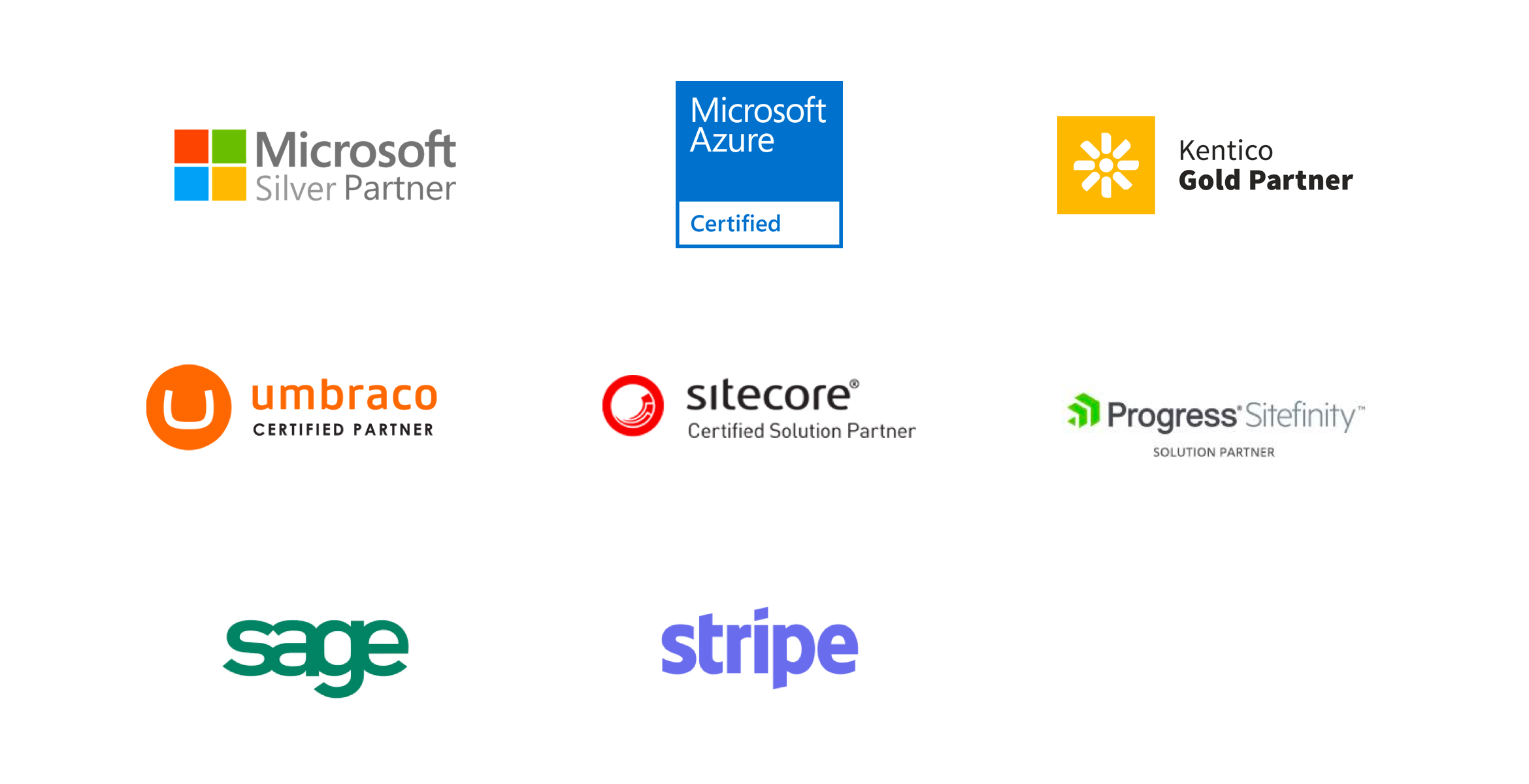 List of our technology partners